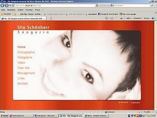 Webseiten der Sängerin Ute Schönherr in neuem Glanz