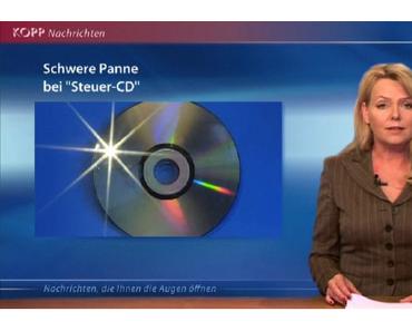 Eva Herman moderiert die Nachrichten.