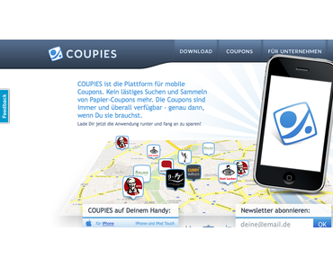 Coupies – Rabatte als Coupons auf's Handy