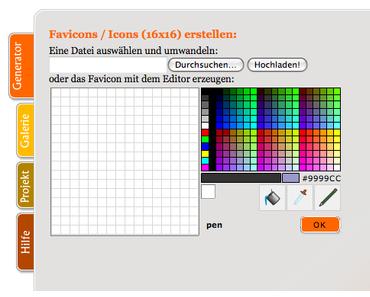 Favicon für eine Website erstellen und einbauen