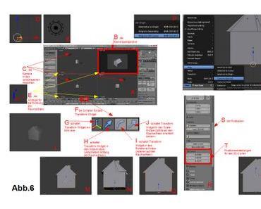 Die Kamera und Lampe mit Hilfe der die 3D-Transform-Manipulatoren ausrichten