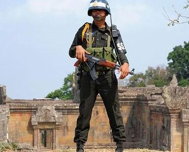 Starke Kampfhandlungen zwischen Kambodscha und Thailand am Preah Vihear Tempel