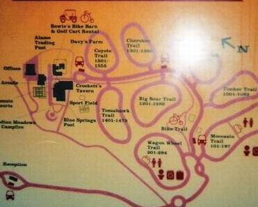 Mit dem Wohnmobil auf der Davy Crockett Ranch