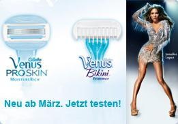 neu! Gillette Venus ProSkin und Venus Bikini Trimmer