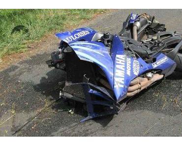 Motorradunfall Wieren – Biker verletzt sich schwer