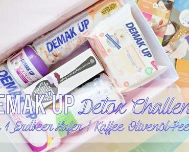 Demak'Up Detox Challenge - DIY Erbeer -Hafer / Kaffee-Olivenöl Gesichtspeeling