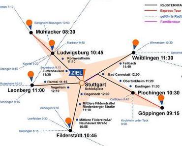 Radsternfahrt: Tausende mit dem Velo nach Stuttgart
