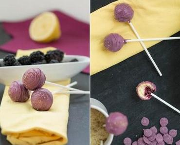 Brombeer-Zitronen-Cakepops {leckerschmecker}  -  frisch & fruchtig für Gartenparties, Picknicks und Sommersausen!