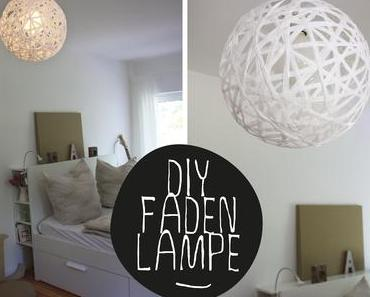 DIY: Bast-Lampe perfekt rund (Schnur-, Faden-Lampe)
