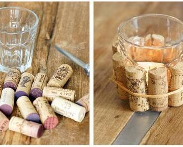 DIY: Korken-Teelicht / Cork Tea Candle