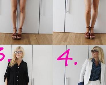 1 Teil – 4 Looks: Weiße Highwaist-Shorts