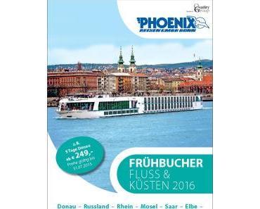 """Neuer Phoenix Reisen Katalog """"Fluss und Küsten 2016"""""""
