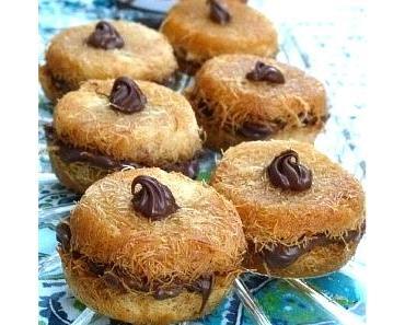 Kunafa mit Nutella - Kunafa bil Nutella