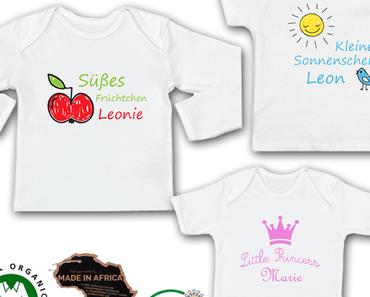 Kein Gift an Babys Haut – Babykleidung mit Namen mit wasserbasierten Druckfarben