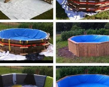 Bau dir einen Paletten-Pool und ´nen Sprungturm mit dazu!