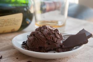 Schokoladen Eis mit Whisky