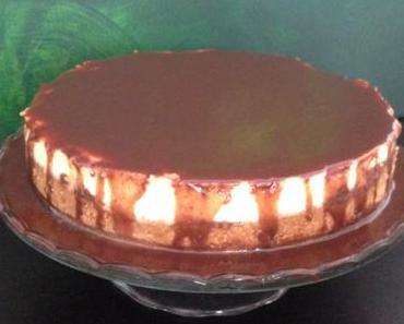 double cheesecake mit karamell und schoko