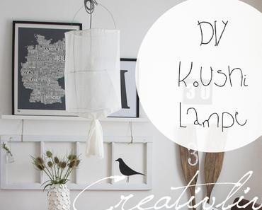 Luftiger Essplatz - DIY Koushi Lampe