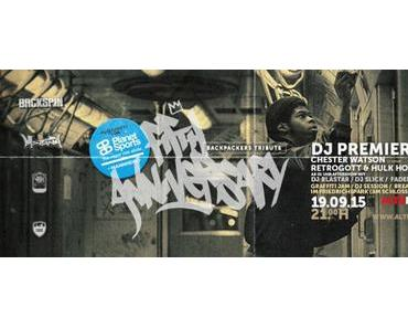 Backpackers Tribute 5th Anniversary Jam mit DJ Premier & Live Band