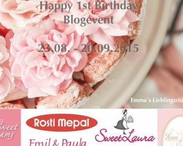 Happy 1st Birthday – Blogevent (Reklame)