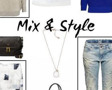 Mix & Style: Strickpullover, Adidas Stan Smith und Boyfriend Jeans