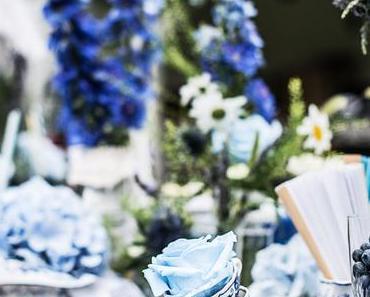 Blue Moon … Tischdeko in der Farbe BLAU