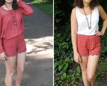 [1 piece 2 styles] Shorts als Zweiteiler-Jumpsuit