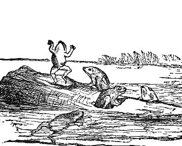 Die Frösche und die Schlange • Zufriedenheit • Fabel von Aesop