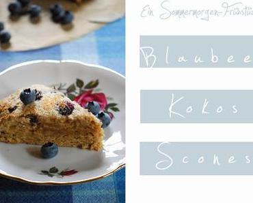 Blaubeer-Kokos-Scones [Ein Sommermorgenfrühstück... okay, sagen wir: Septembermorgenfrühstück, hihi]