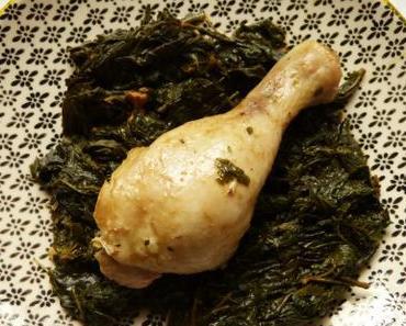 Mloukhia – Eintopf mit Hühnchen und Muskraut