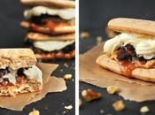 Süße Burger Apple-Crumble Karamellsauce
