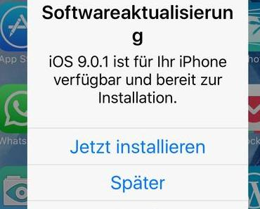 Apple iOS 9.0.1 update: Qualität der Dialoge – i18n Problem? – QS Problem? – Getestet?