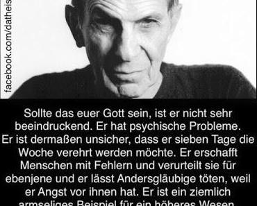 Das Wort zum Sonntag: heute von Mr. Spock