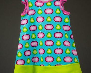 ApfelBirnen Kleid mit Käppchenärmeln