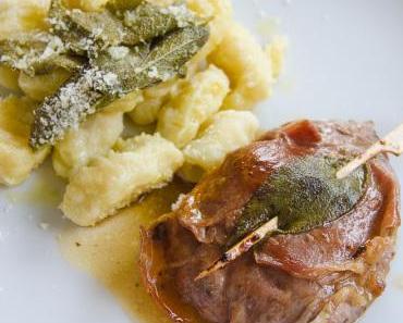 Saltimbocca mit hausgemachten Kartoffelgnocchi und Salbeibutter