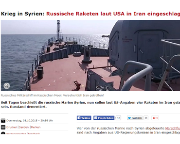 Iran – Keine russischen Flugkörper abgestürzt
