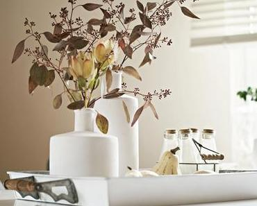 {Flowerday} Eukalyptus und Protea - ganz zarte Farben