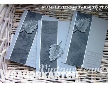Zu Allerheiligen: Trauerkarten mit Vintage Leaves