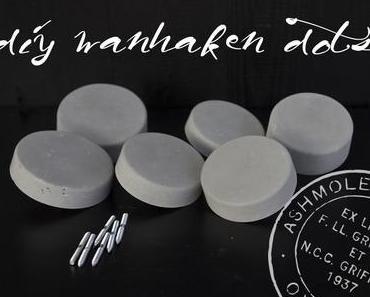 """DIY Wandhaken """"Dots"""" aus Beton"""