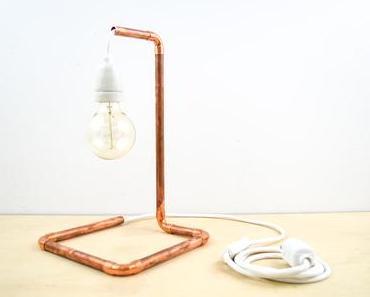 DIY Kupfer-Lampe aus dem Baumarkt