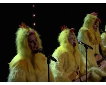 Jimmy Fallon und The Jagged Little Chicks gackern Ironic von Alanis Morissette