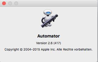 Wie können Scripte im Dock von Mac OS X El Capitän abgelegt und ausgeführt werden?