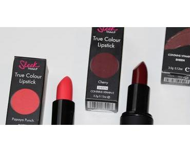 Let's talk about Sleek Lipstick - True Colour: Papaya Punch, Cherry & Succumb