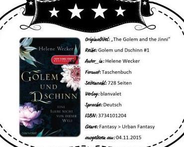Helene Wecker – Golem und Dschinn