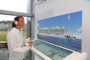 AIDA setzt erstmals digitales Schiffsmodell von AIDAprima ein