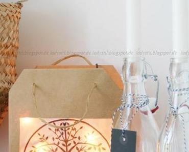 DIY Laterne als Weihnachtsdeko oder schon wieder eine Papiertüte