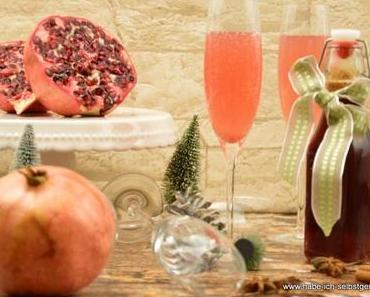 Vanille Orangen Granatapfel Sirup