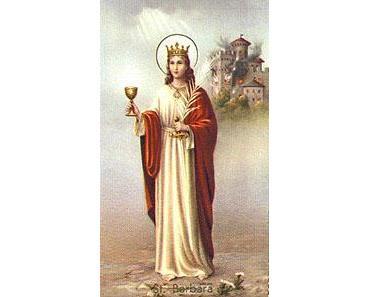 Tag der heiligen Barbara