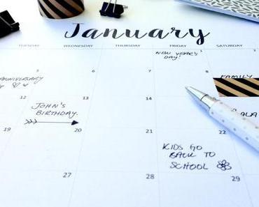 Kalender zum Ausdrucken für 2016