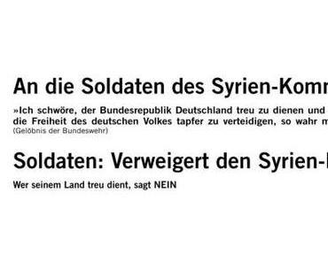 Soldaten: Verweigert den Syrien-Befehl!
